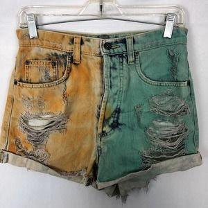 CARMAR HIGH WAIST DISTRESSED SHORTS SIZE 26.
